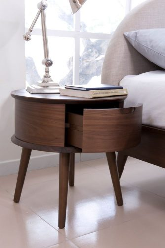 Đầu giường gỗ tròn