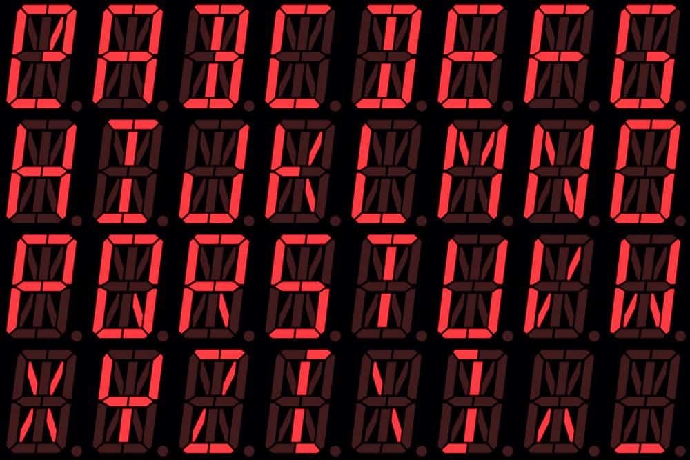 Đèn LED chữ và số