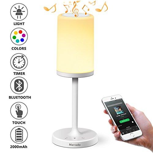 Đèn ngủ Marrado có Loa Bluetooth |  Thay đổi màu sắc Đèn LED tâm trạng |  Đèn bàn thông minh cảm biến cho phòng ngủ |  Món quà tốt nhất cho thiếu niên đại học Thanh thiếu niên Trẻ em Trẻ em Đàn ông Phụ nữ Người lớn
