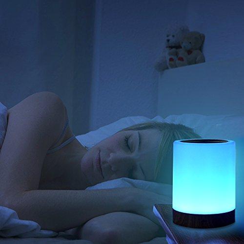Đèn ngủ, Đèn cảm ứng UNIFUN cho phòng ngủ Phòng khách Bàn di động Đèn ngủ có pin có thể sạc lại Kích thước 2800K-3100K Ánh sáng trắng ấm & Thay đổi màu RGB