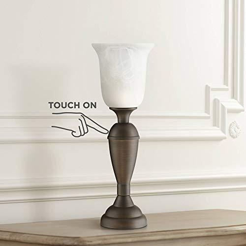 Đèn bàn Uplight truyền thống Đèn đồng Tắt màu trắng bằng đá cẩm thạch màu trắng Chạm vào tắt cho phòng khách văn phòng - 360 chiếu sáng