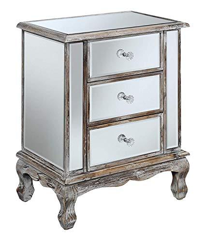 Khái niệm tiện lợi Bộ sưu tập Gold Coast Bộ sưu tập 3 ngăn kéo nhân đôi, màu trắng phong hóa