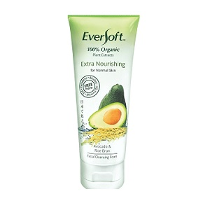 Eversoft Organic Avocado & Rice Bran Facial Cleansing Foam