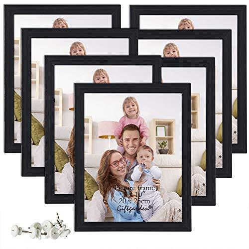 Giftgarden 8x10 Khung ảnh Nhiều khung ảnh Đặt tường hoặc màn hình để bàn, 7 CÁI, Đen