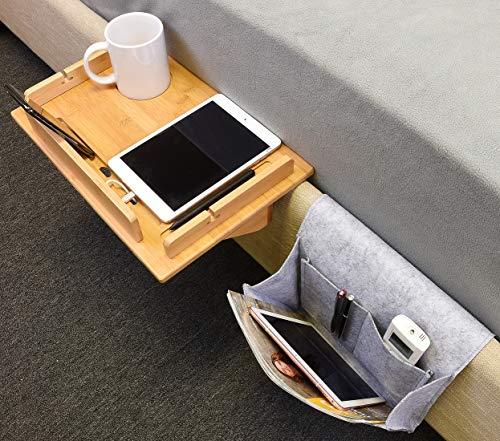 """Tirrinia Kệ đầu giường và tổ chức lưu trữ Caddy - Thiết kế hốc & bút, khung có thể tháo rời, khe cắm dây sạc Khay nổi cho ký túc xá sinh viên đại học, Giường tầng, đầu giường trẻ em, 14,8 """"x 10"""""""