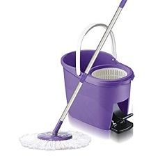 White Magic Foot Press Spin Mop