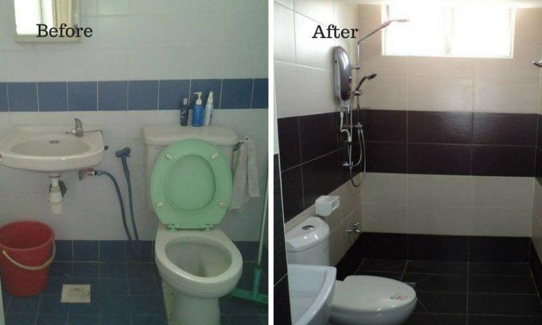Thay thế gạch phòng tắm tại Bukit OUG, Bukit Jalil