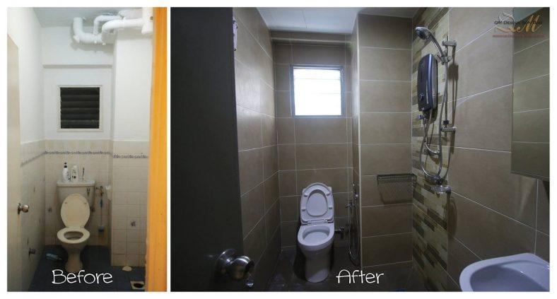 Phòng tắm tân trang tại Pandan Cheras