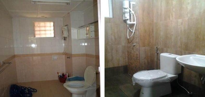 Phòng tắm thử lại tại D'Shire Villa Kota Damansara