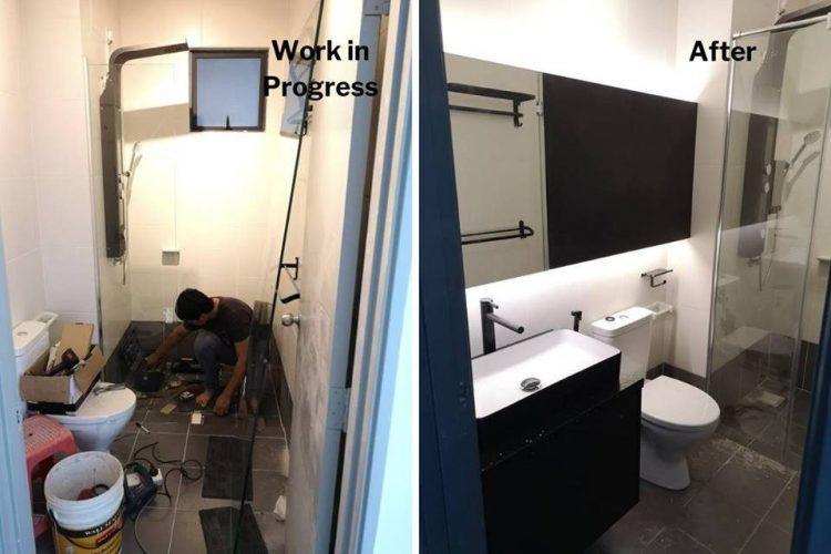 Cải tạo nhà vệ sinh tại USJ One Park Condo
