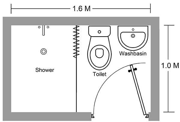 Một thiết kế phòng tắm nhỏ