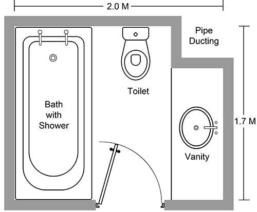 Thiết kế phòng tắm khách sạn có bồn tắm