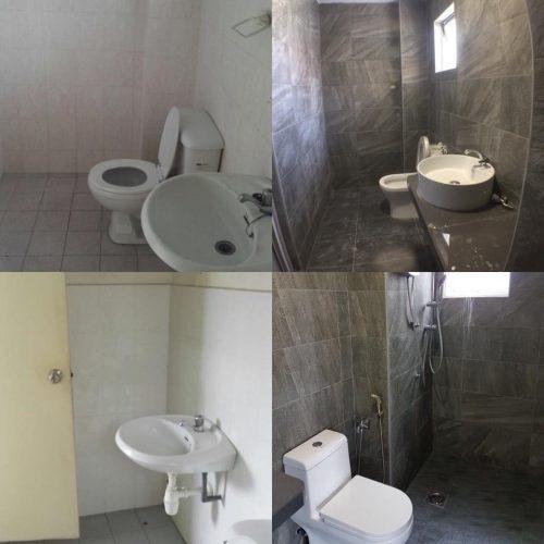 Trang điểm phòng tắm trong căn hộ Jalil Damai