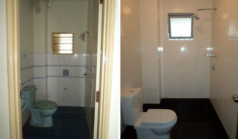 Cải tạo phòng tắm đơn giản tại chung cư Pandan Ville