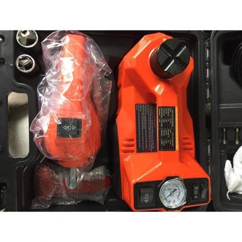 Con đội điện, bơm hơi cho ô tô, xe hơi + Dụng cụ tháo ốc   Shopee ...