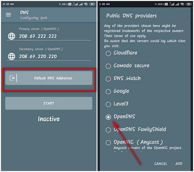 DNSChanger cho IPv4 / IPv6