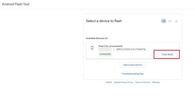 flash xây dựng công cụ flash android - Cài đặt Android 12 Beta